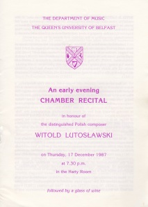 WL concert programme 17.12.87