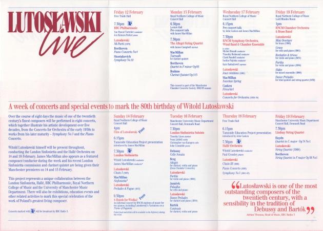 WL live, Manchester 1993 inside