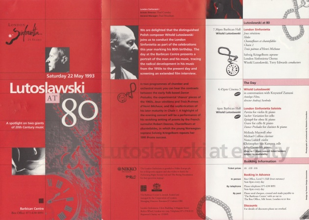 London Sinfonietta, 22.05.93