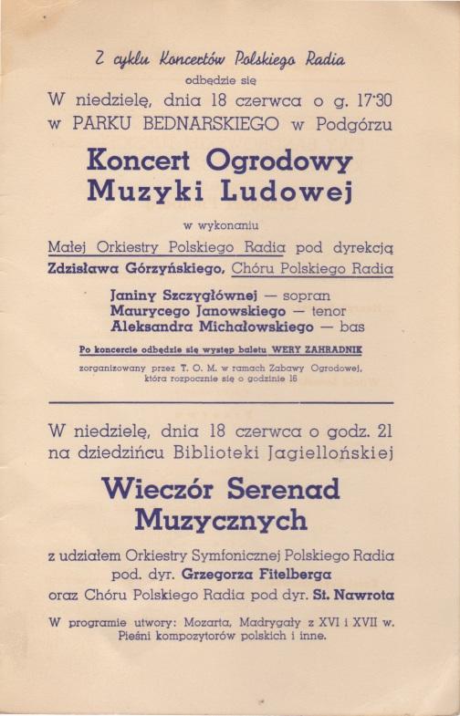 Krakøw concerts 18.06.39