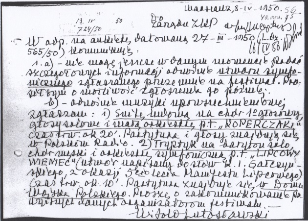WL letter re Lipcowy wieniec