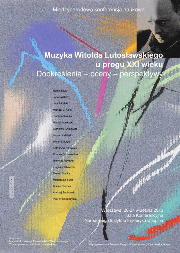 Konferencja naukowa - Muzyka Witolda Lutosławskiego - plakat