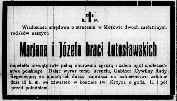 WL Nowa Gazeta obituary notice